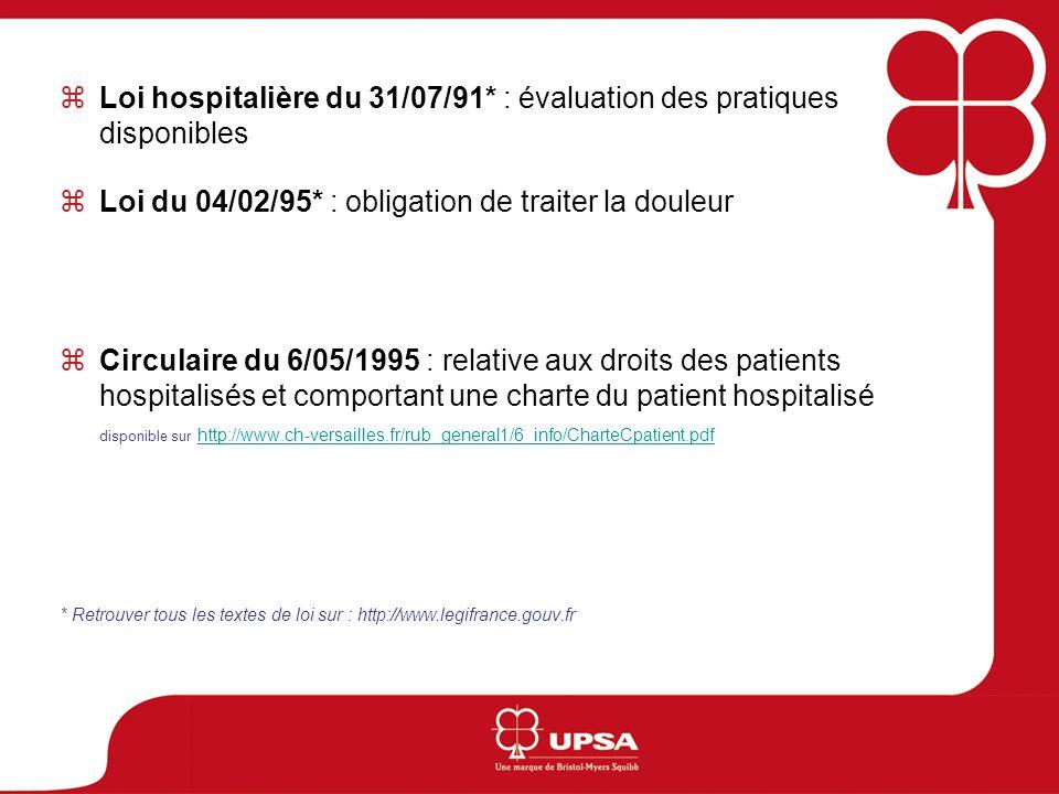 Loi hospitalière du 31/07/91* : évaluation des pratiques disponibles