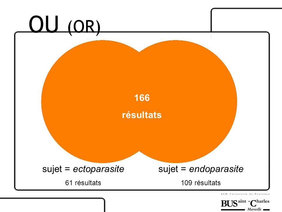 OU (OR) 166 résultats sujet = ectoparasite sujet = endoparasite