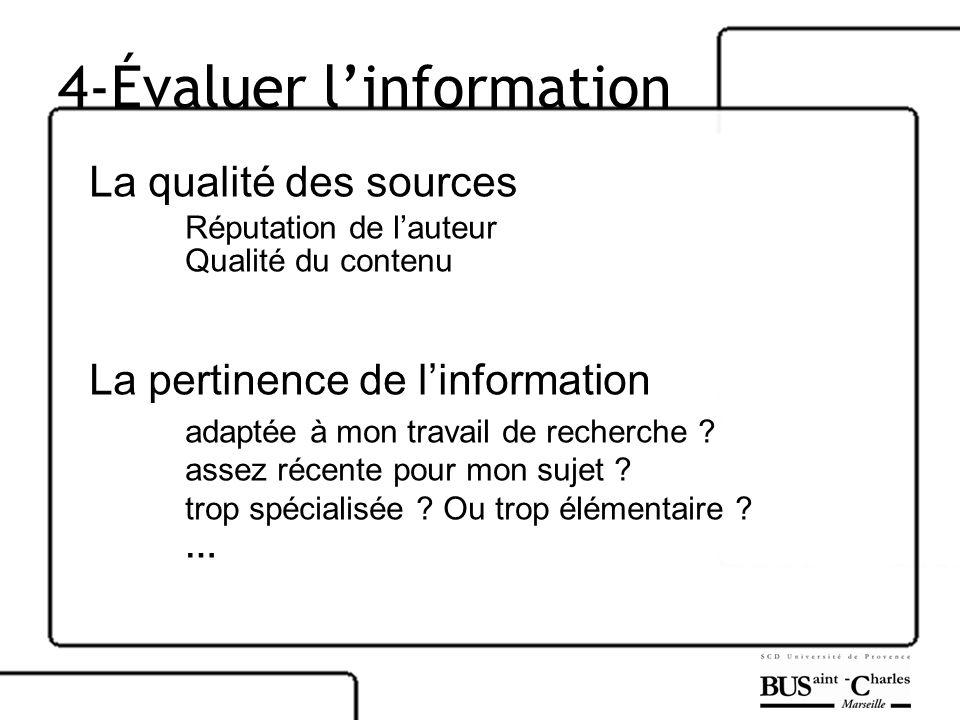 4-Évaluer l'information