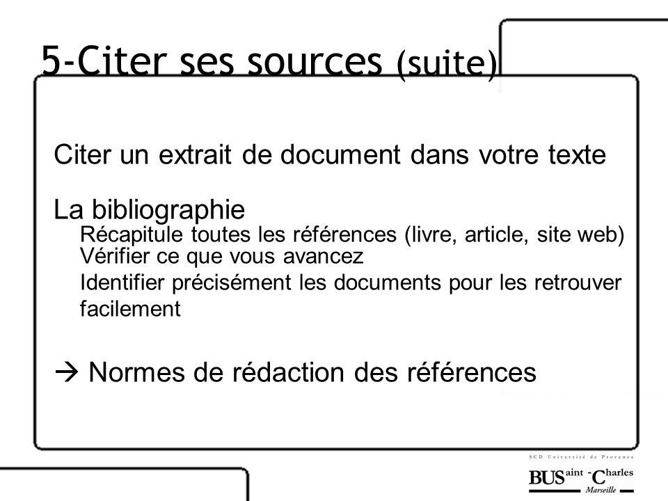 5-Citer ses sources (suite)
