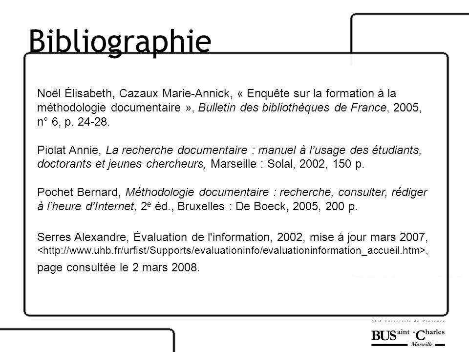 Bibliographie Noël Élisabeth, Cazaux Marie-Annick, « Enquête sur la formation à la.