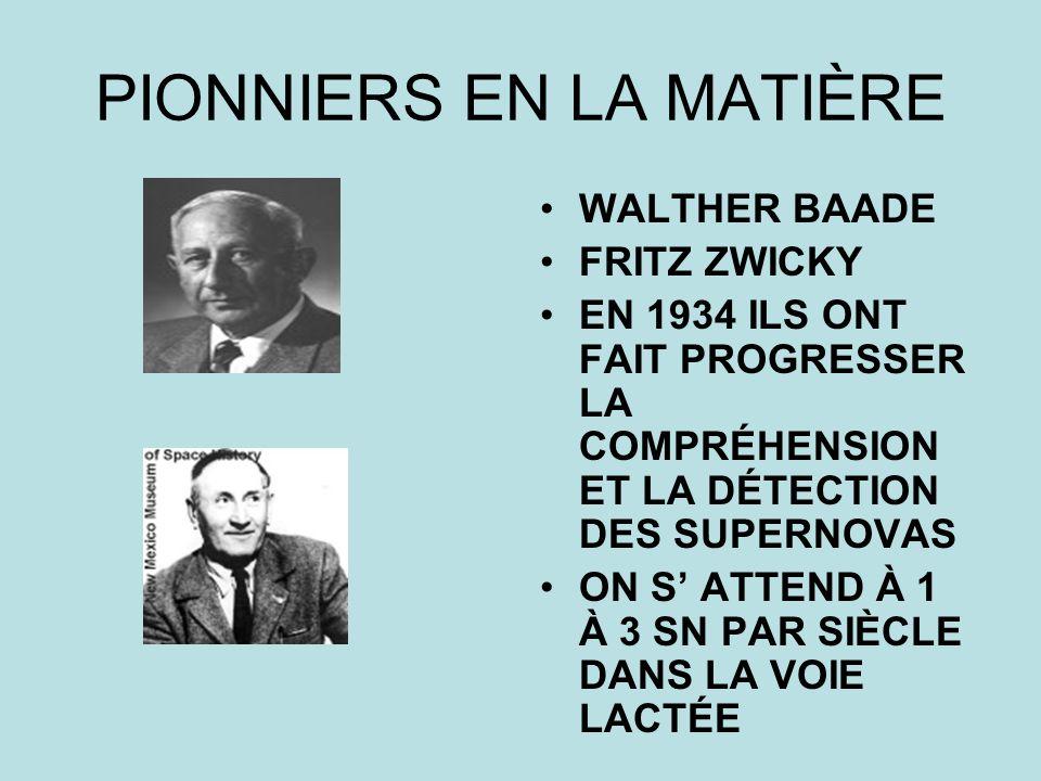 PIONNIERS EN LA MATIÈRE