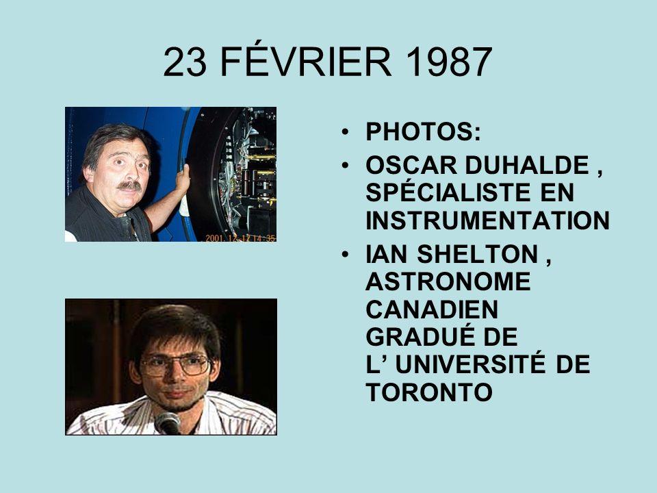 23 FÉVRIER 1987 PHOTOS: OSCAR DUHALDE , SPÉCIALISTE EN INSTRUMENTATION