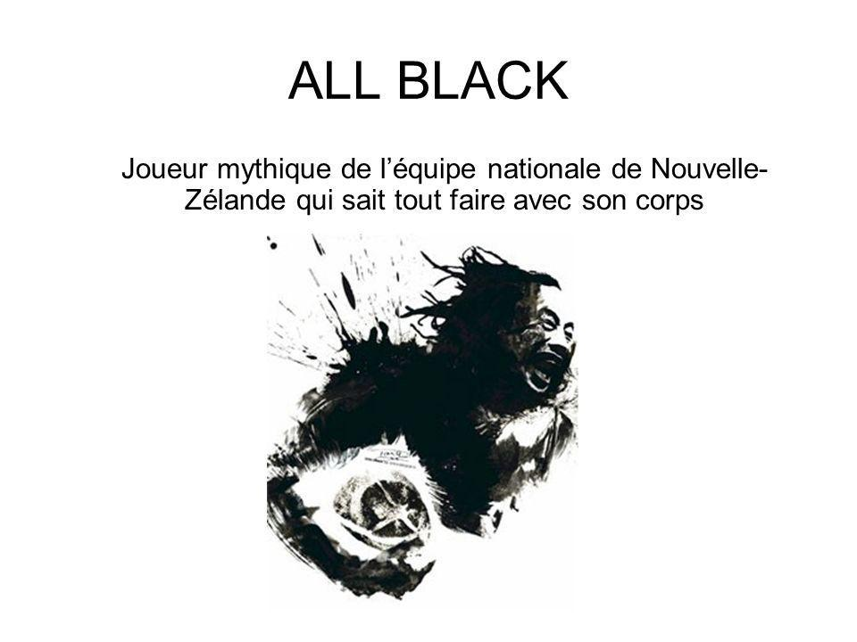 ALL BLACK Joueur mythique de l'équipe nationale de Nouvelle-Zélande qui sait tout faire avec son corps.