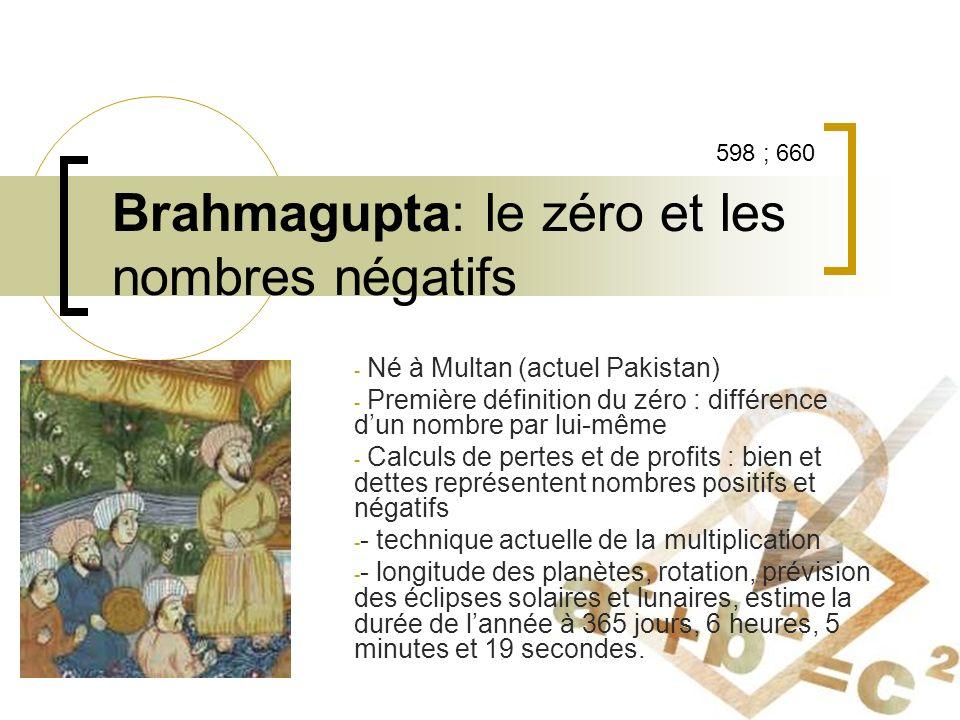 Brahmagupta: le zéro et les nombres négatifs