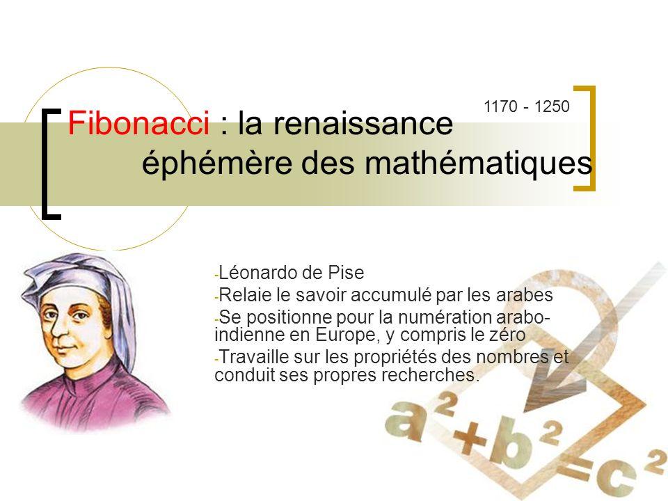 Fibonacci : la renaissance éphémère des mathématiques