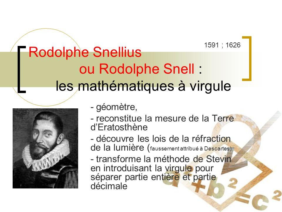 Rodolphe Snellius ou Rodolphe Snell : les mathématiques à virgule