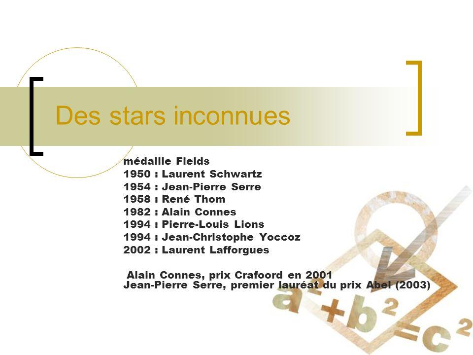 Des stars inconnues médaille Fields 1950 : Laurent Schwartz