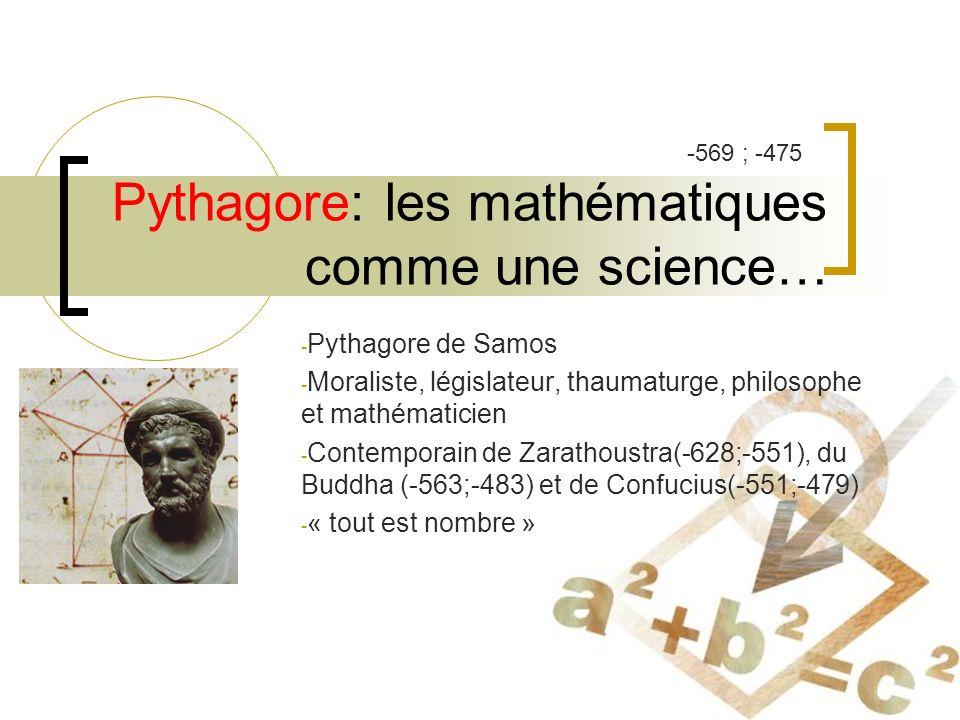 Pythagore: les mathématiques comme une science…