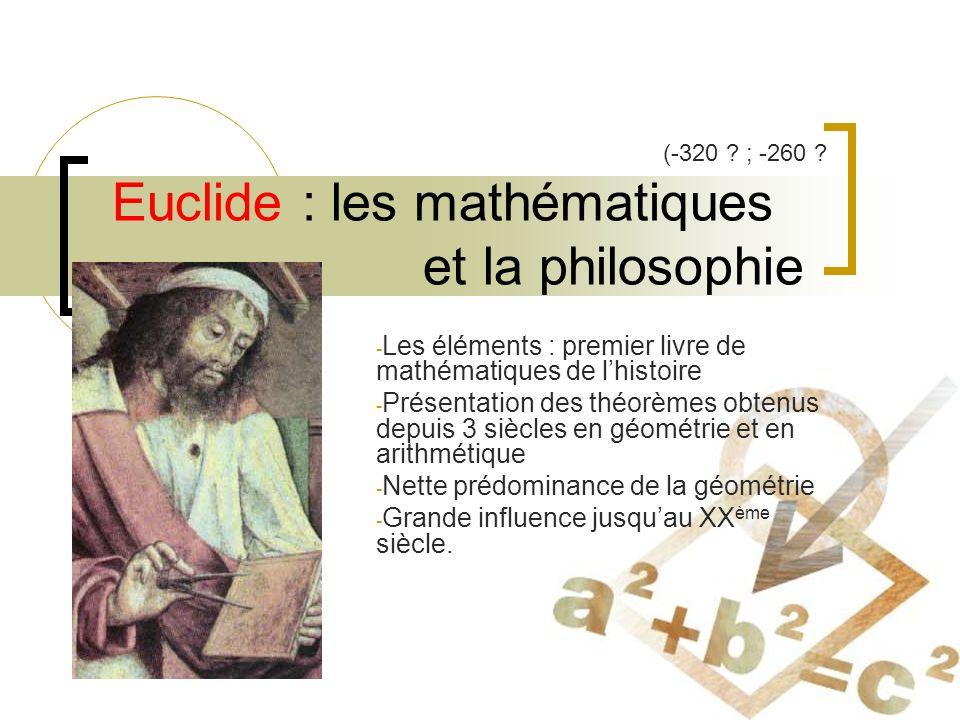Euclide : les mathématiques et la philosophie