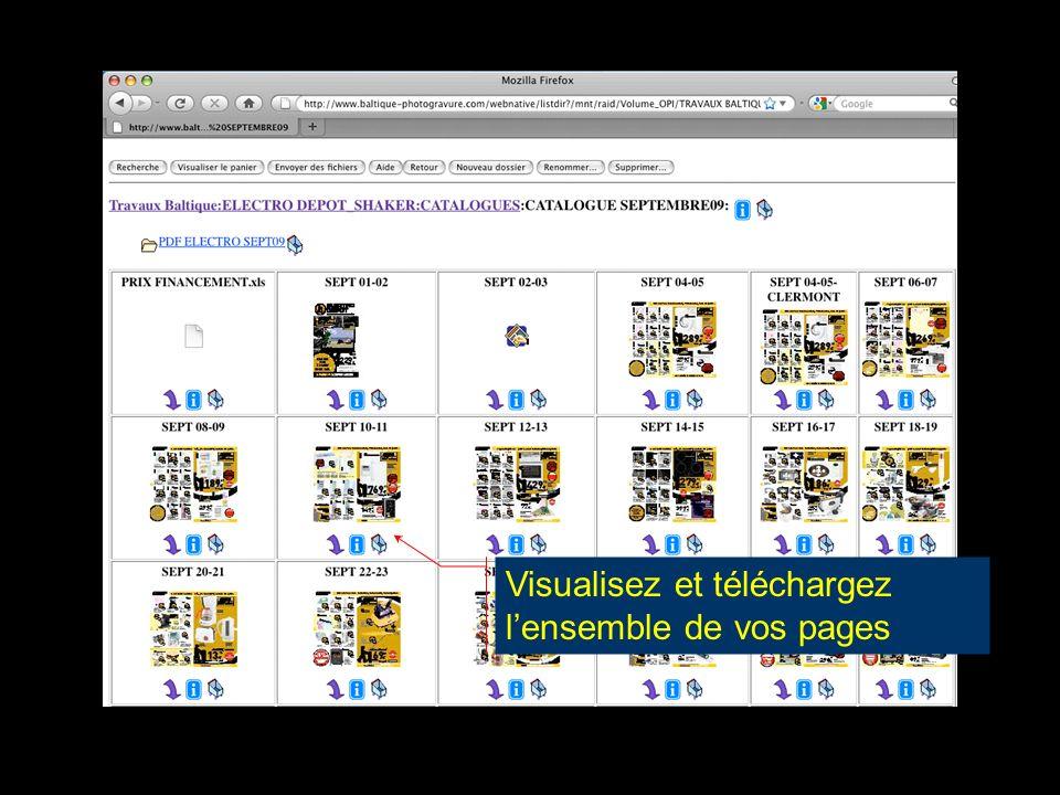 Visualisez et téléchargez l'ensemble de vos pages