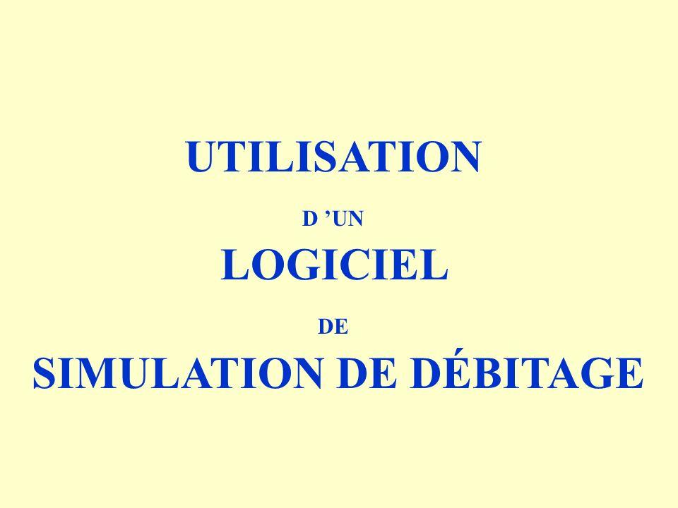 SIMULATION DE DÉBITAGE