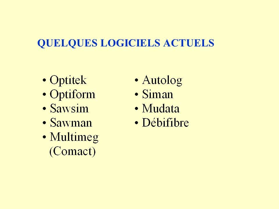 QUELQUES LOGICIELS ACTUELS
