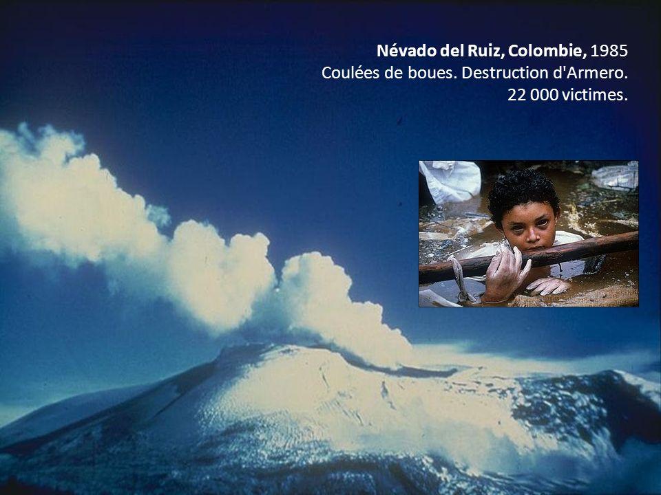 Névado del Ruiz, Colombie, 1985