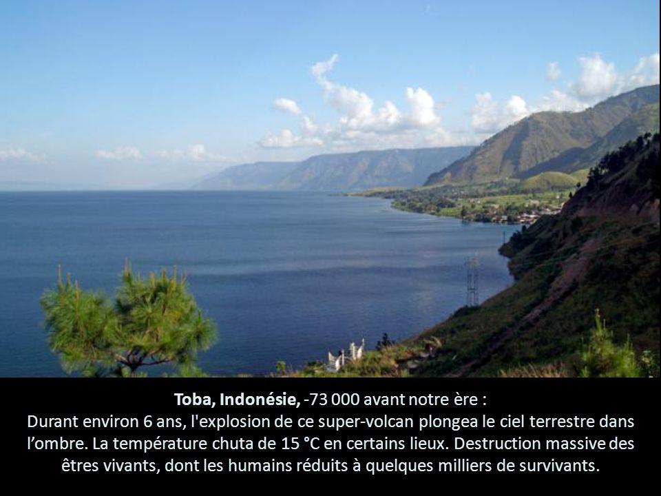 Toba, Indonésie, -73 000 avant notre ère :