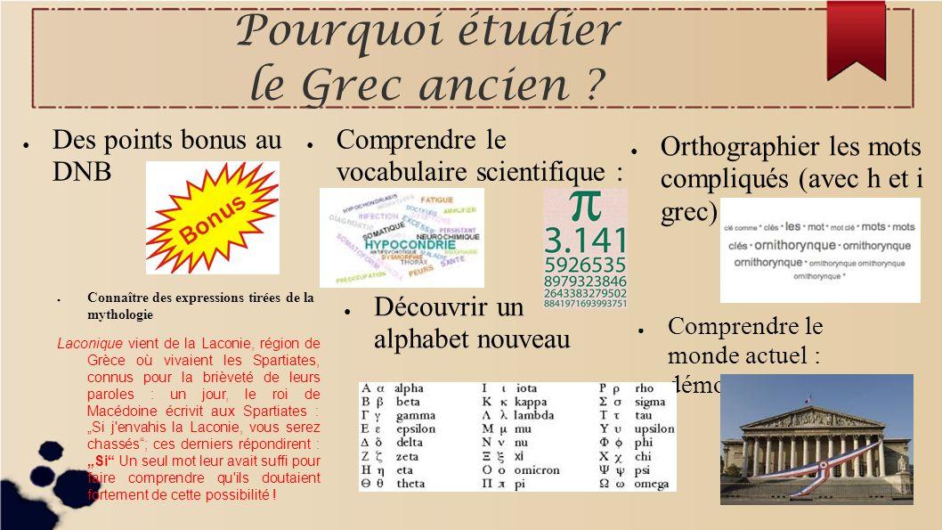 Pourquoi étudier le Grec ancien