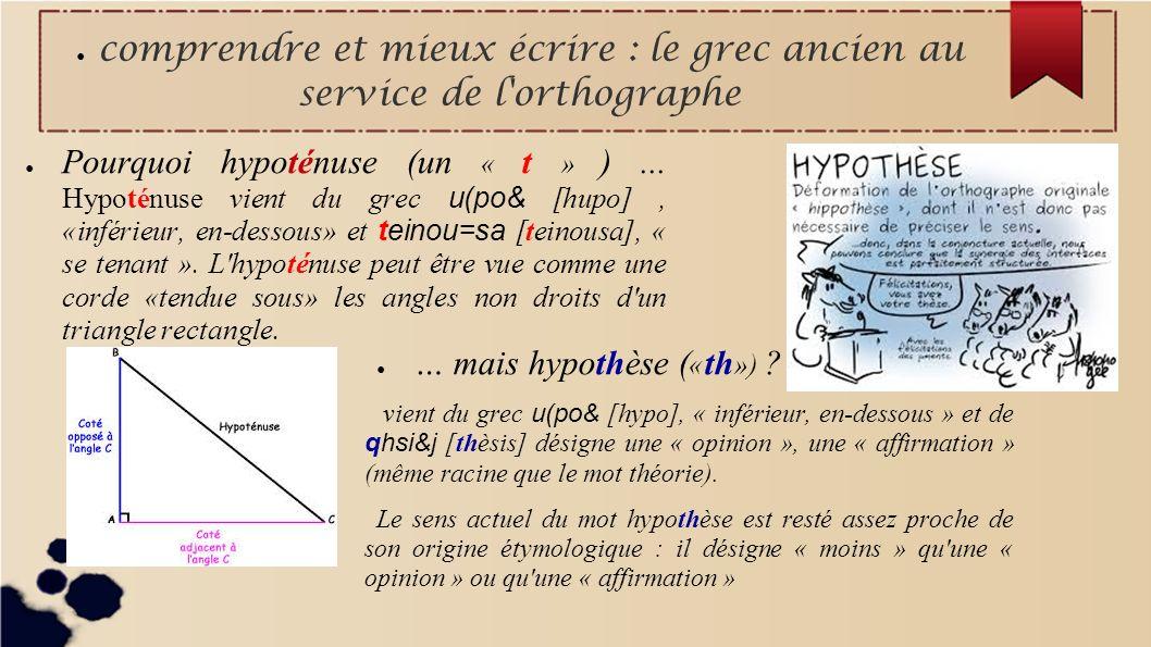 … mais hypothèse («th»)