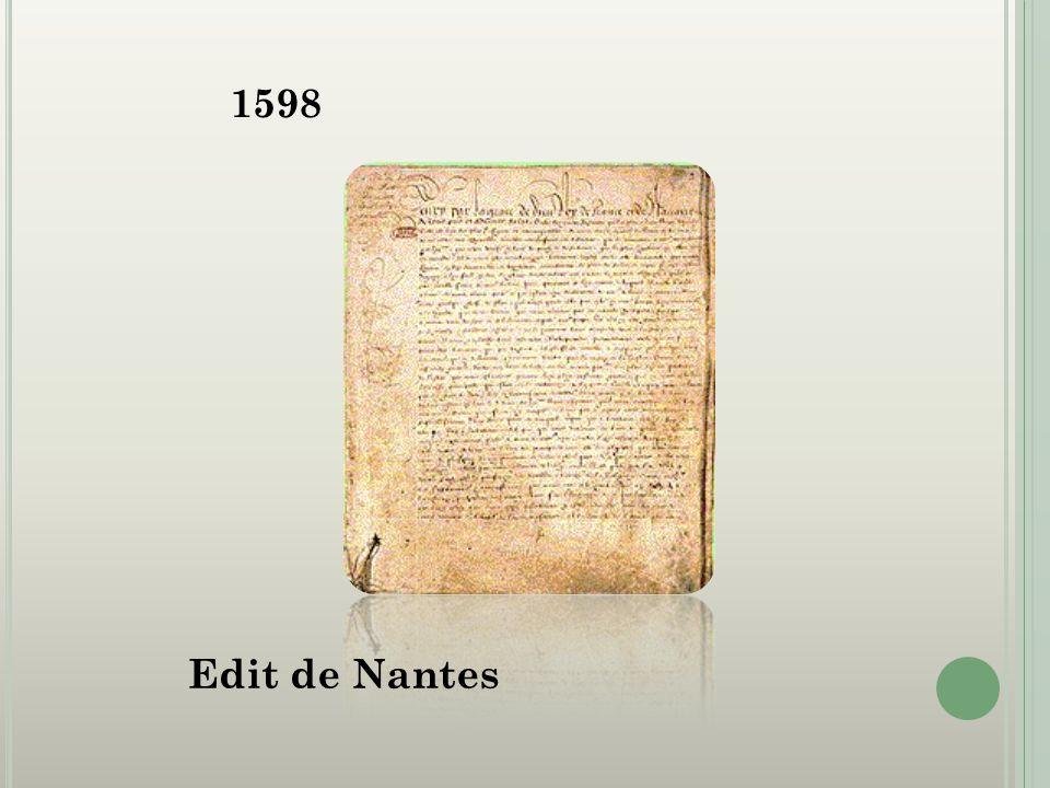 1598 Edit de Nantes