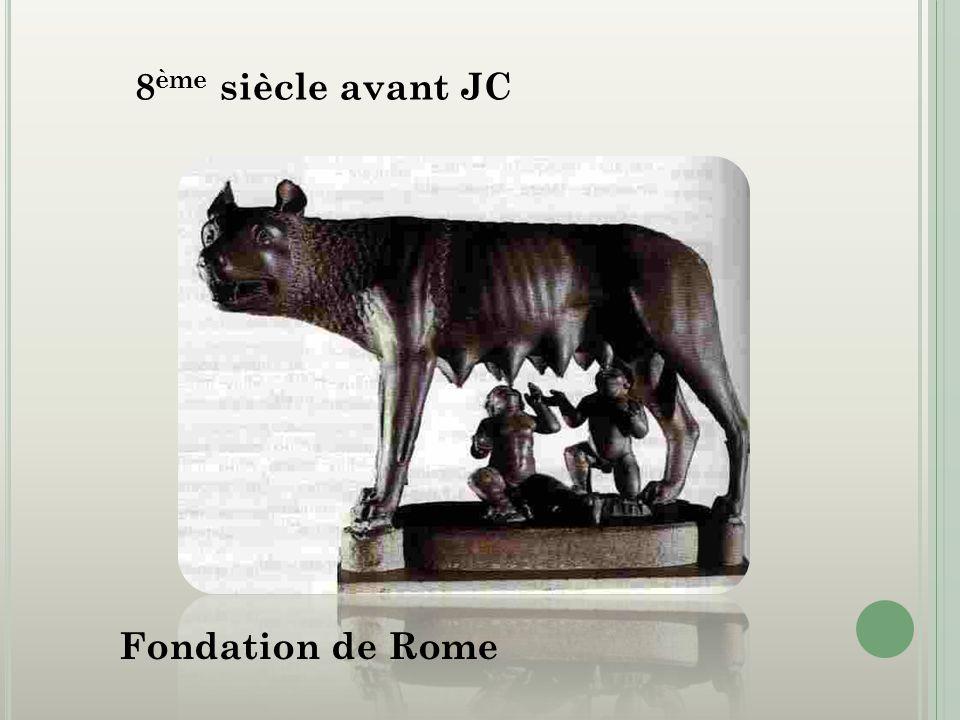 8ème siècle avant JC Fondation de Rome