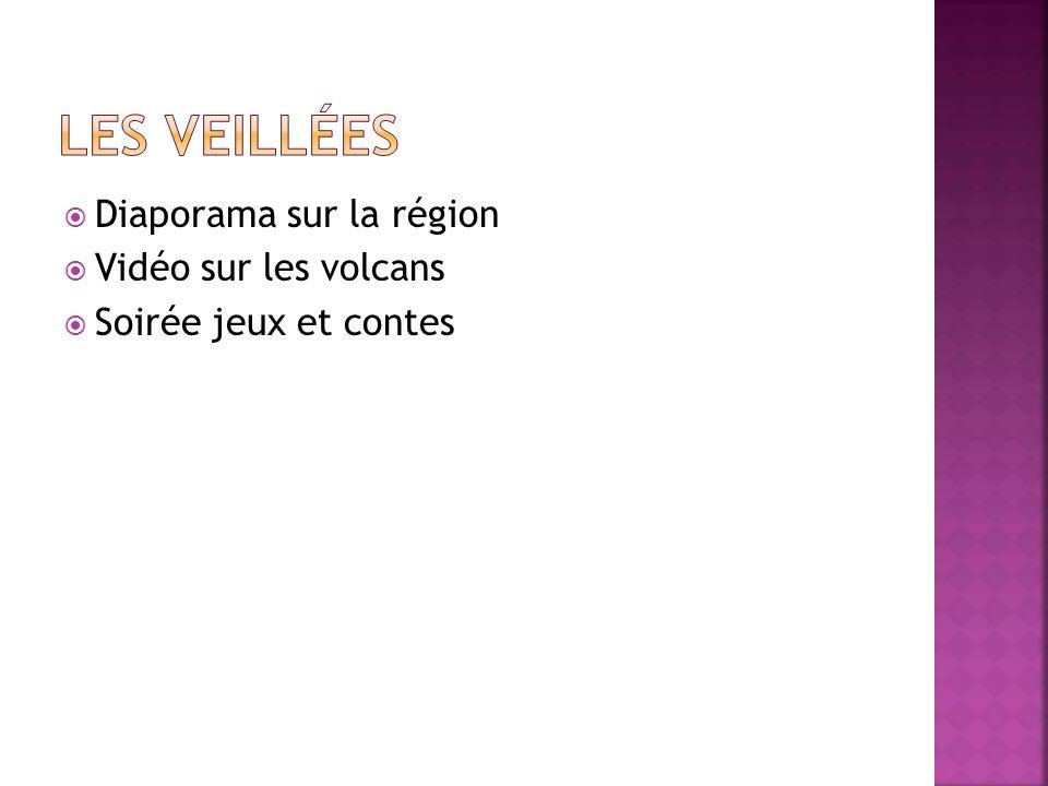 Les veillées Diaporama sur la région Vidéo sur les volcans