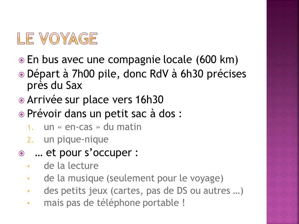 Le voyage En bus avec une compagnie locale (600 km)