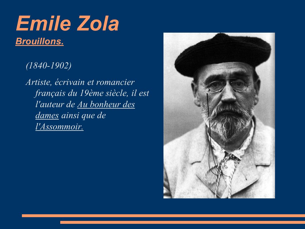 Emile Zola Brouillons. (1840-1902)
