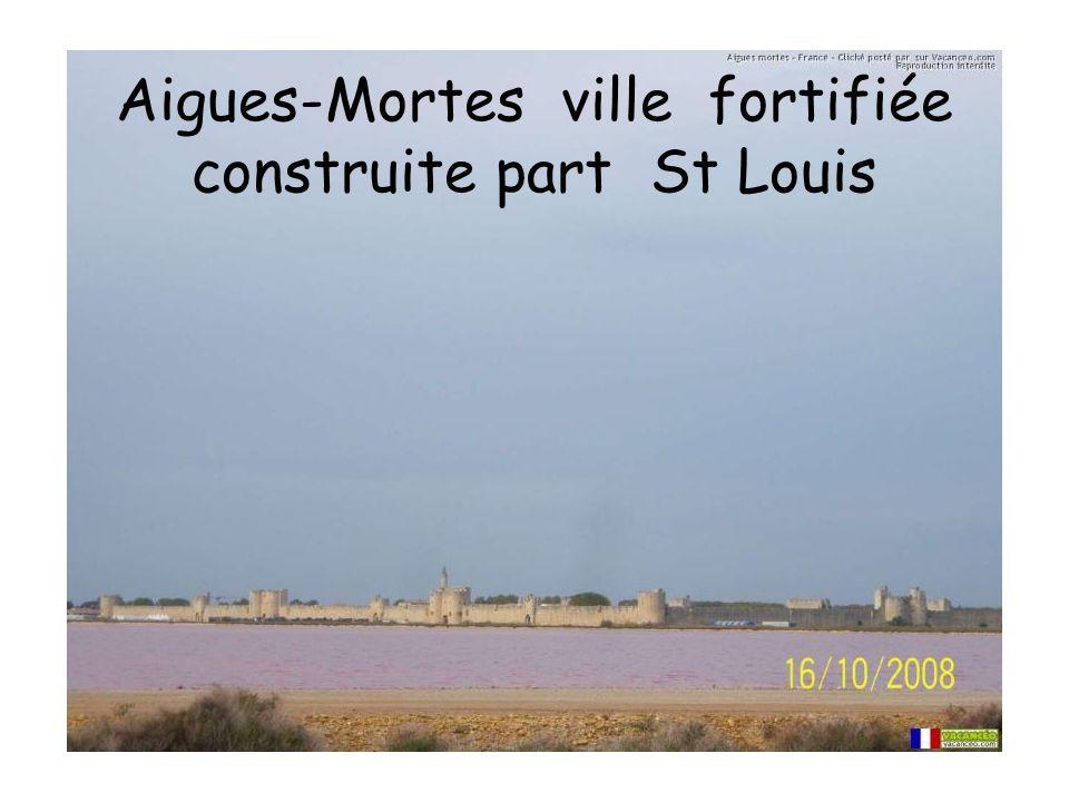 Aigues-Mortes ville fortifiée construite part St Louis
