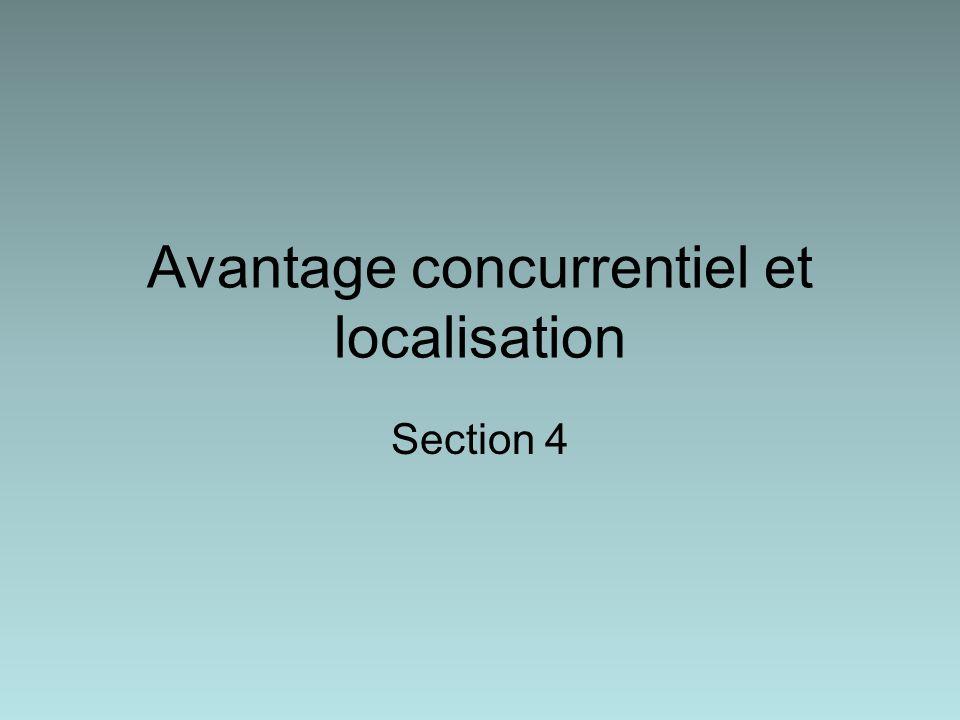 Avantage concurrentiel et localisation