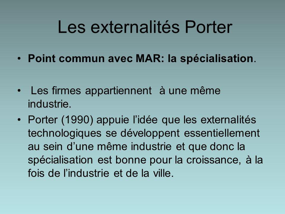 Les externalités Porter