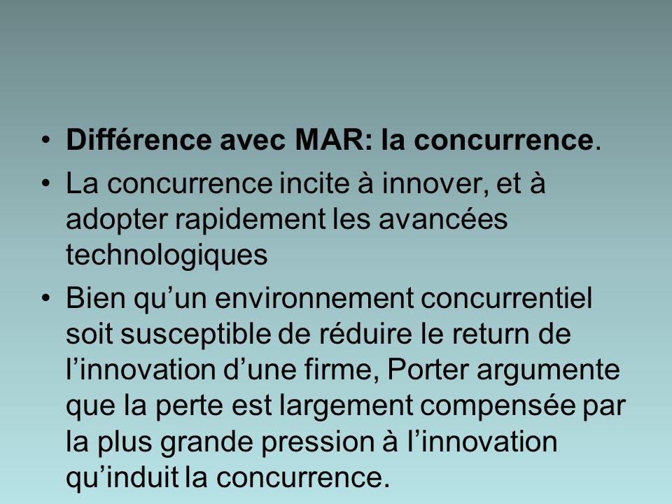 Différence avec MAR: la concurrence.