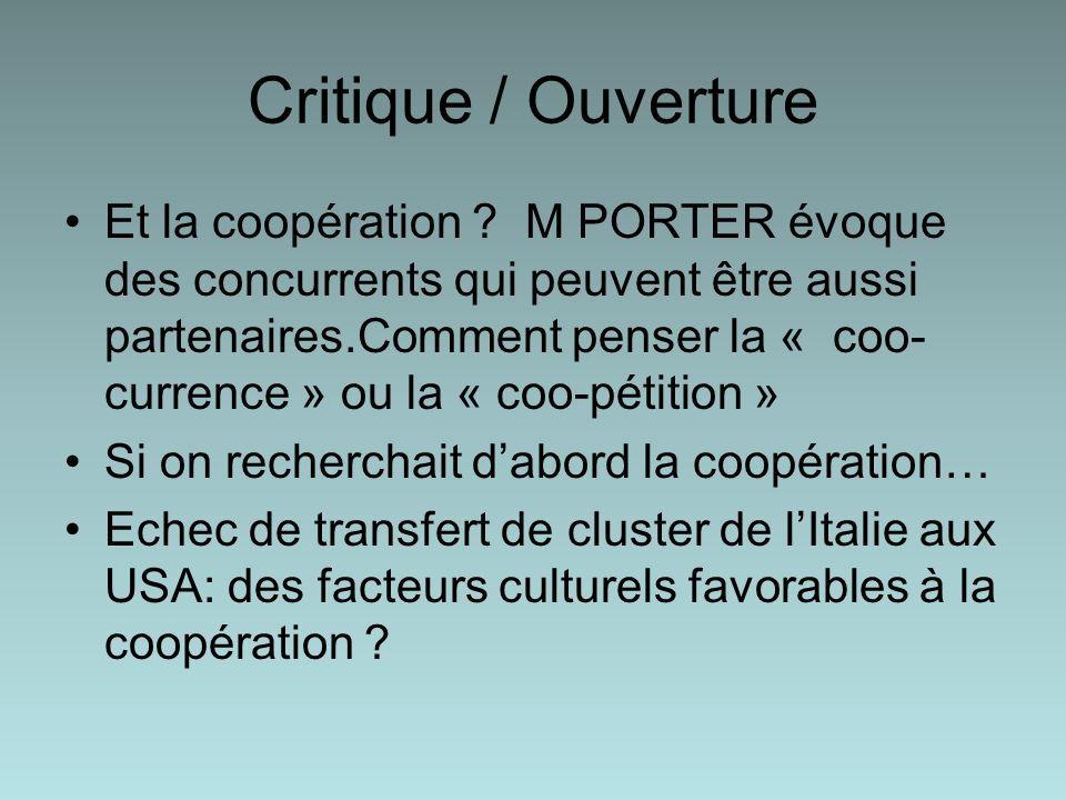 Critique / Ouverture