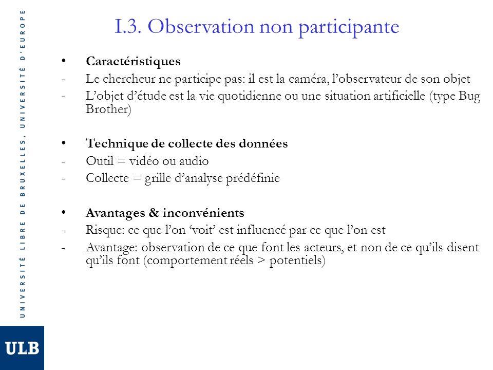 I.3. Observation non participante