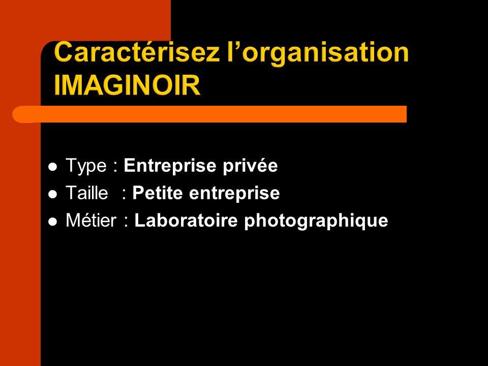 Caractérisez l'organisation IMAGINOIR