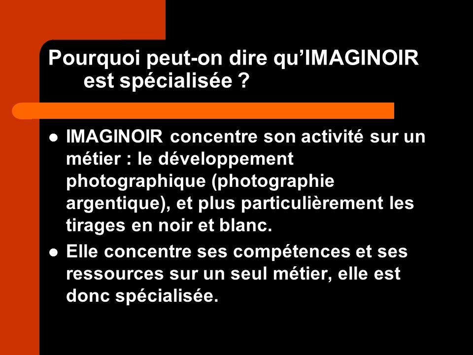 Pourquoi peut-on dire qu'IMAGINOIR est spécialisée