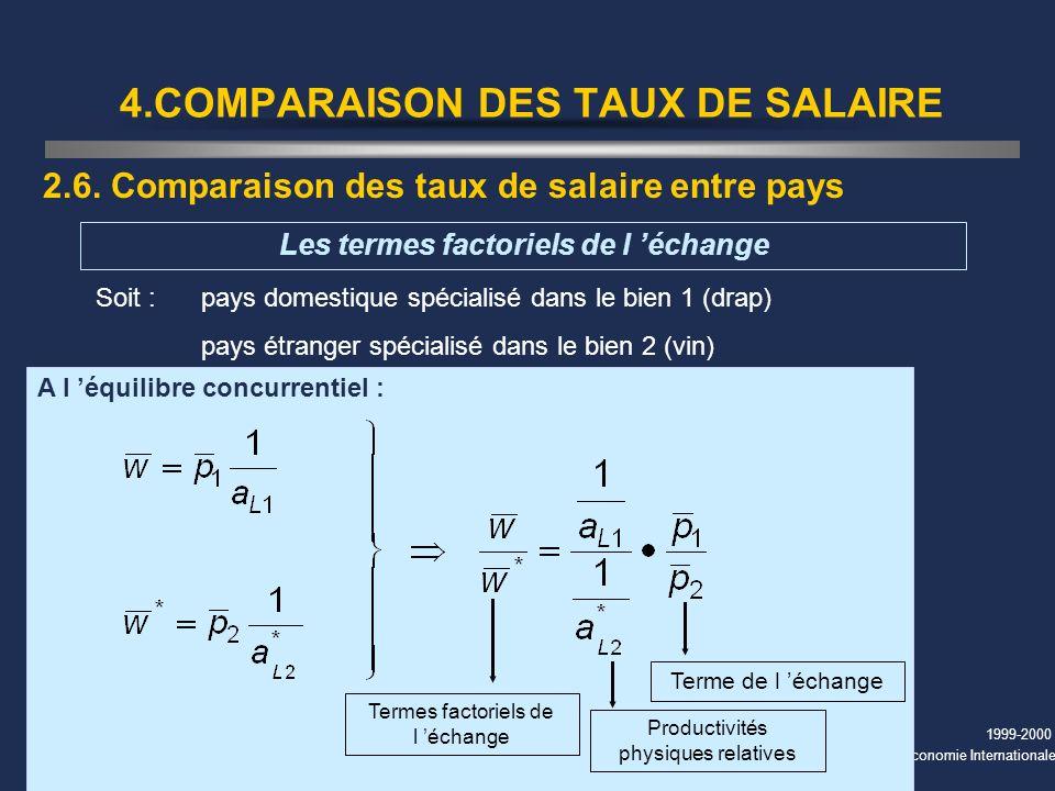 4.COMPARAISON DES TAUX DE SALAIRE