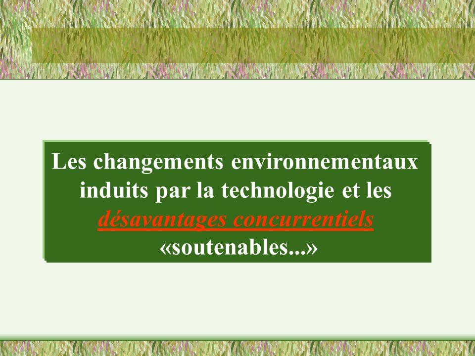 Les changements environnementaux induits par la technologie et les