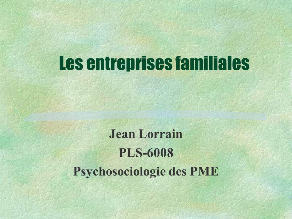 Les entreprises familiales