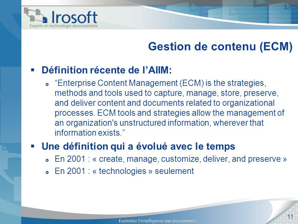 Gestion de contenu (ECM)