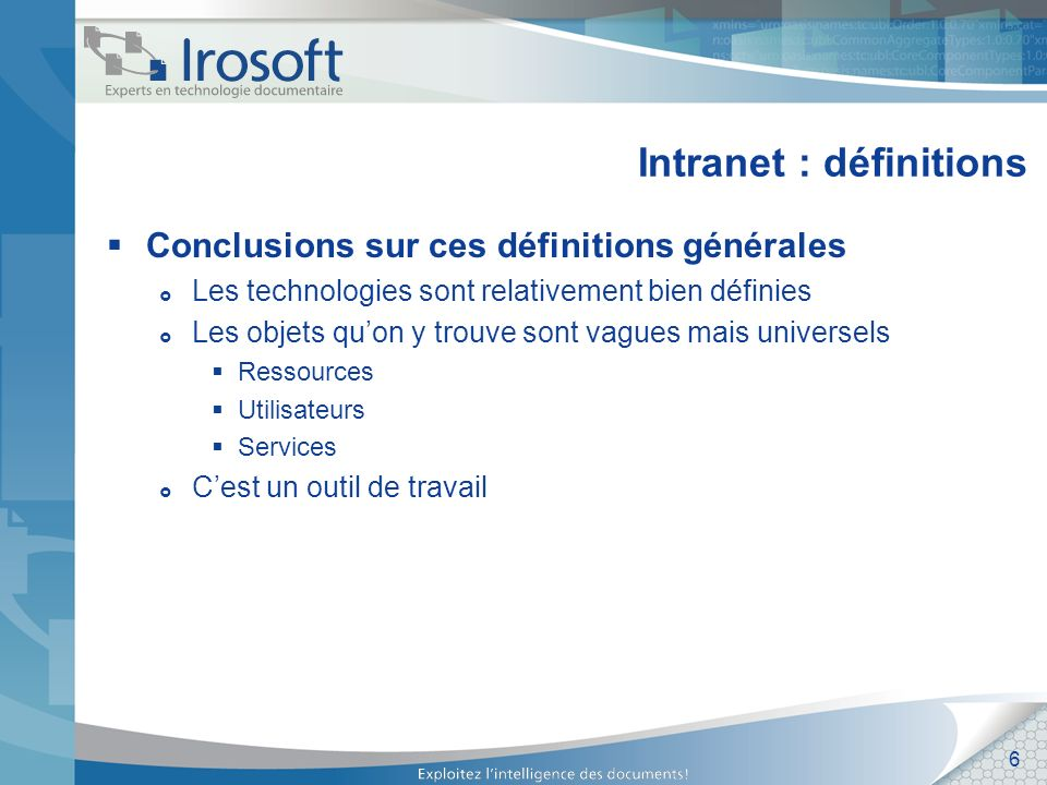 Intranet : définitions