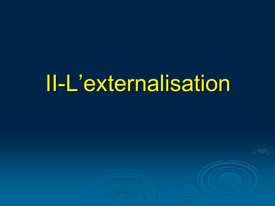II-L'externalisation