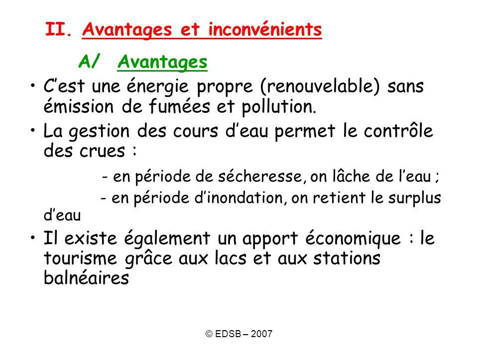 II. Avantages et inconvénients A/ Avantages