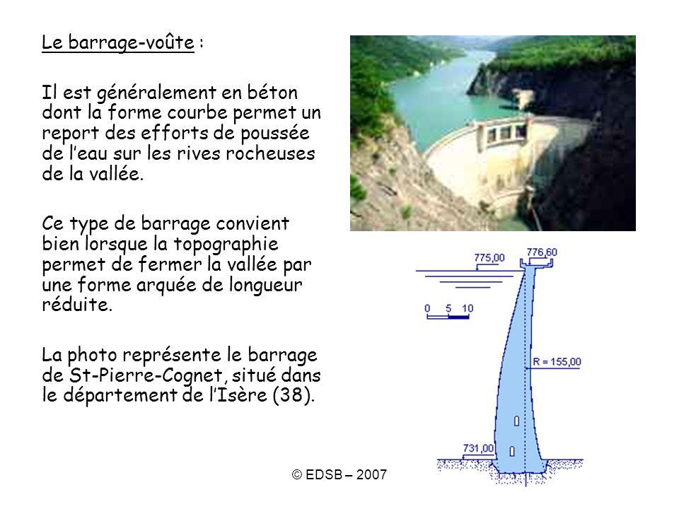 Le barrage-voûte :