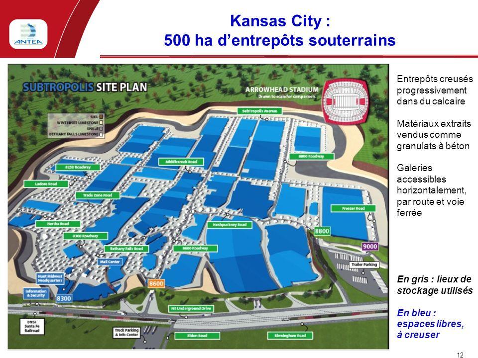 Kansas City : 500 ha d'entrepôts souterrains