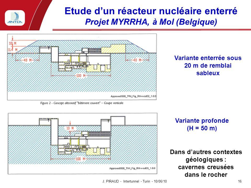 Etude d'un réacteur nucléaire enterré Projet MYRRHA, à Mol (Belgique)