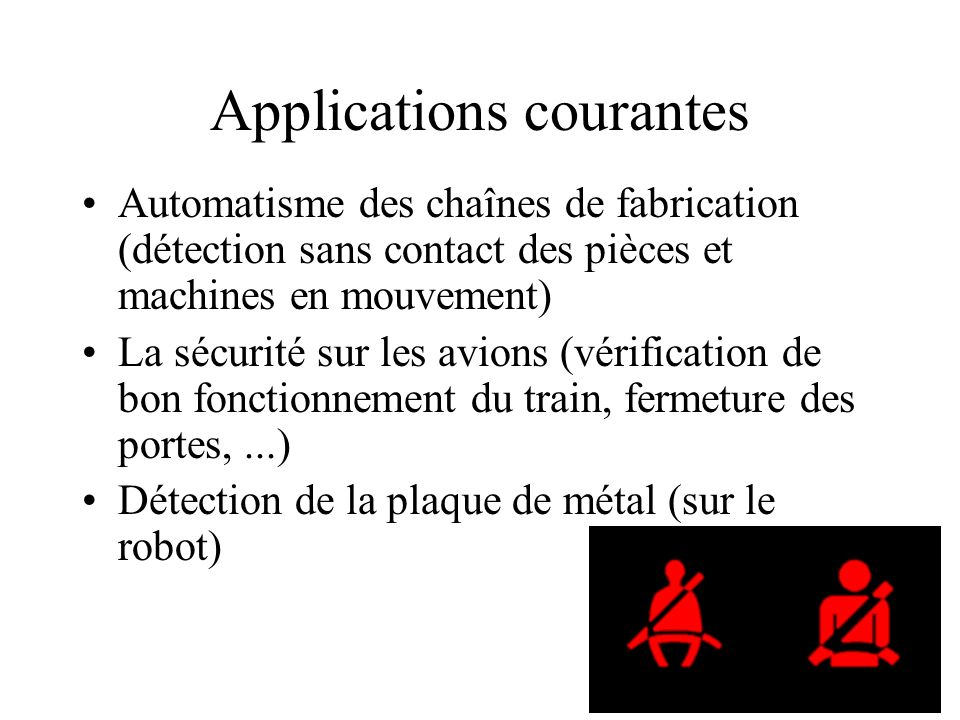 Applications courantes