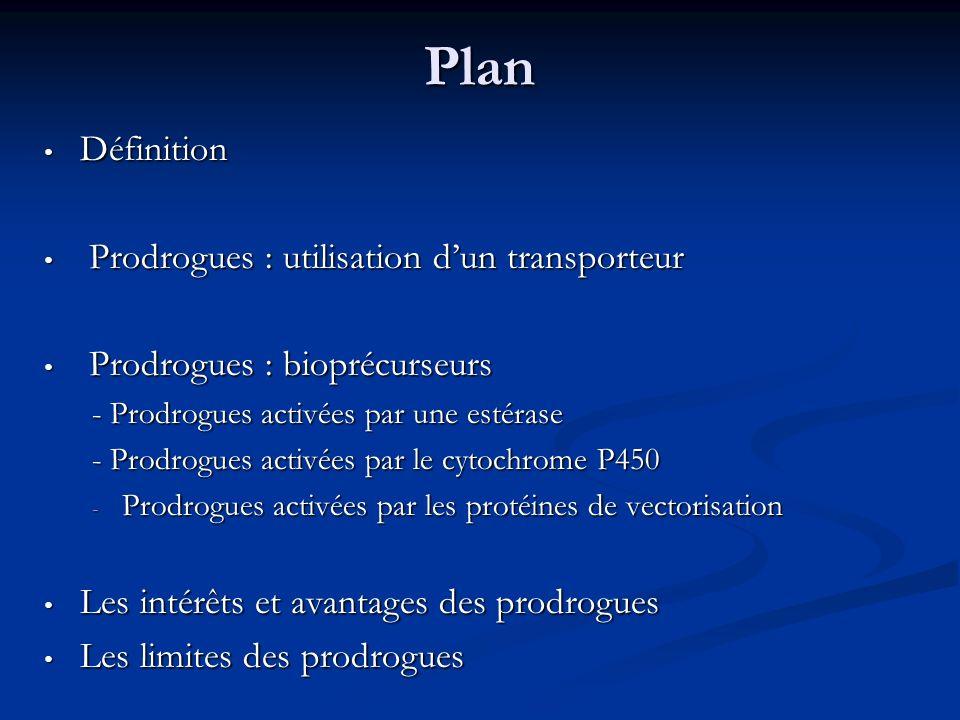 Plan Définition Prodrogues : utilisation d'un transporteur