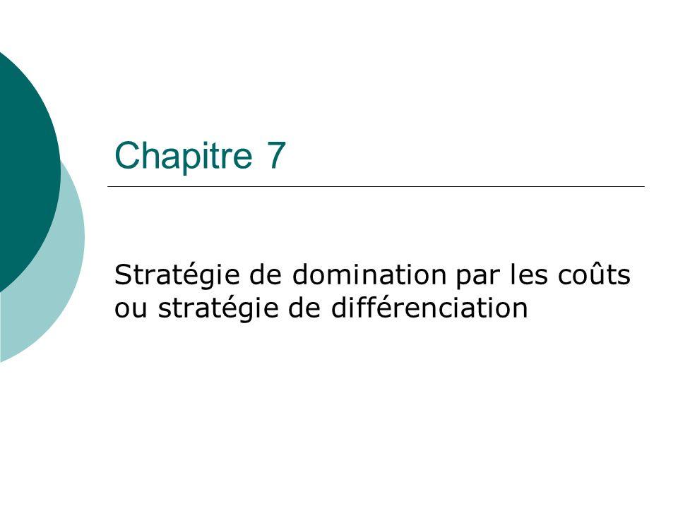 Stratégie de domination par les coûts ou stratégie de différenciation
