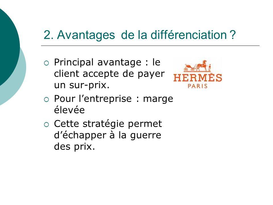 2. Avantages de la différenciation