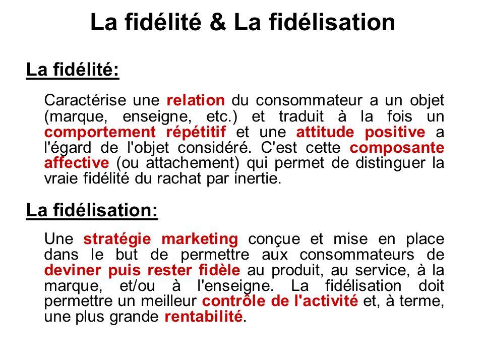 La fidélité & La fidélisation