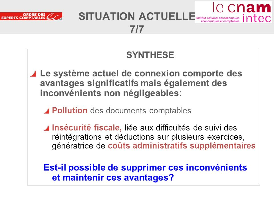 SITUATION ACTUELLE 7/7 SYNTHESE